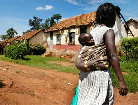 Relief & Development coverage of a mother in Uganda.